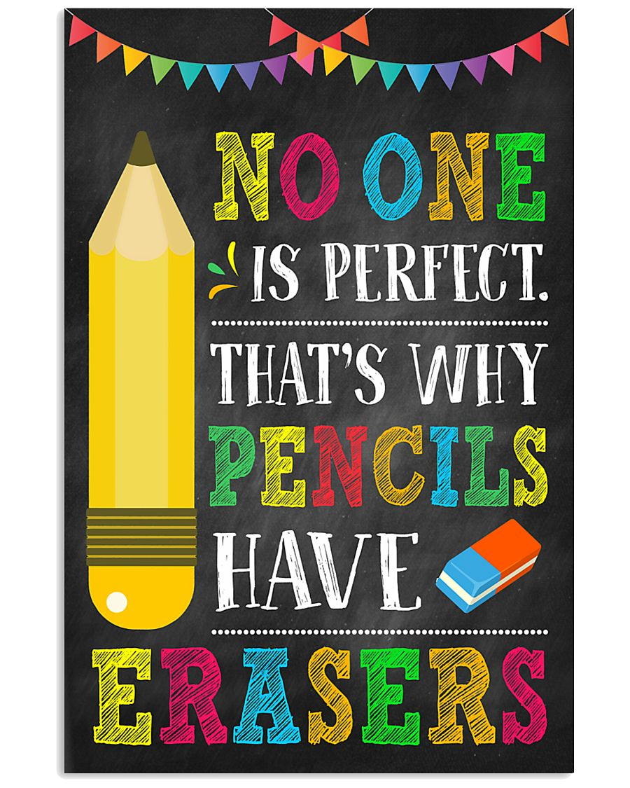 Teacher No One Is Perfect 11x17 Poster