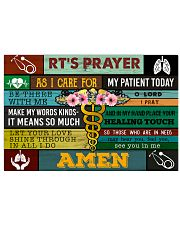 Respiratory Therapists' Prayer  17x11 Poster front