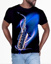 Saxophone with blue light All-over T-Shirt aos-all-over-T-shirt-lifestyle-front-04