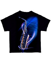 Saxophone with blue light All-over T-Shirt back