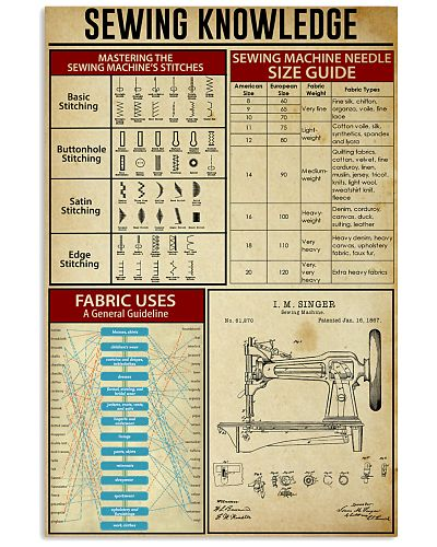 Sewing Knowledge Vintage Art Print
