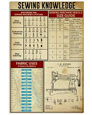 Sewing Knowledge Vintage Art Print  11x17 Poster front