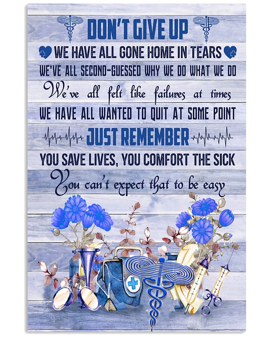 Respiratory Therapist Dont Give Up  11x17 Poster