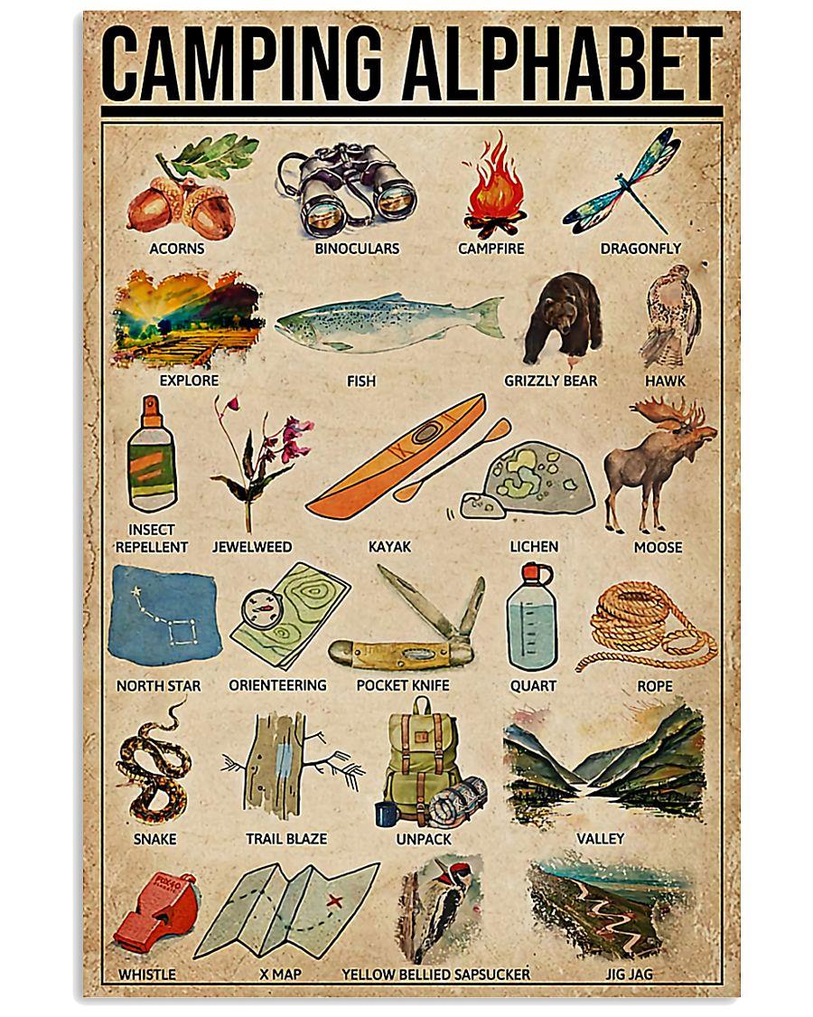 Camping Alphabet  11x17 Poster