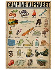 Camping Alphabet  11x17 Poster front