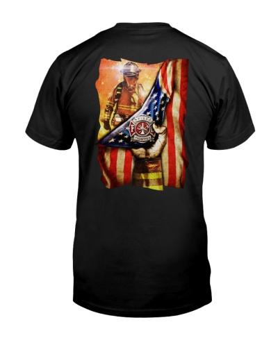 Firefighter USA's flag