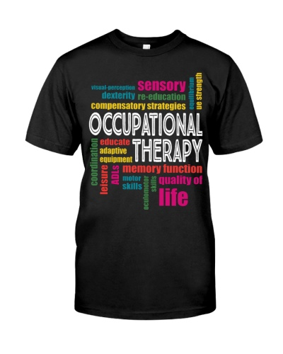 Occupational Therapy Colorful Words