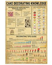 Baker Cake Decorating  Knowledge  11x17 Poster front