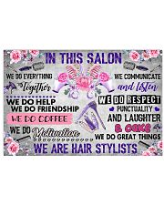 In This Salon We Are Hair Stylists 17x11 Poster front