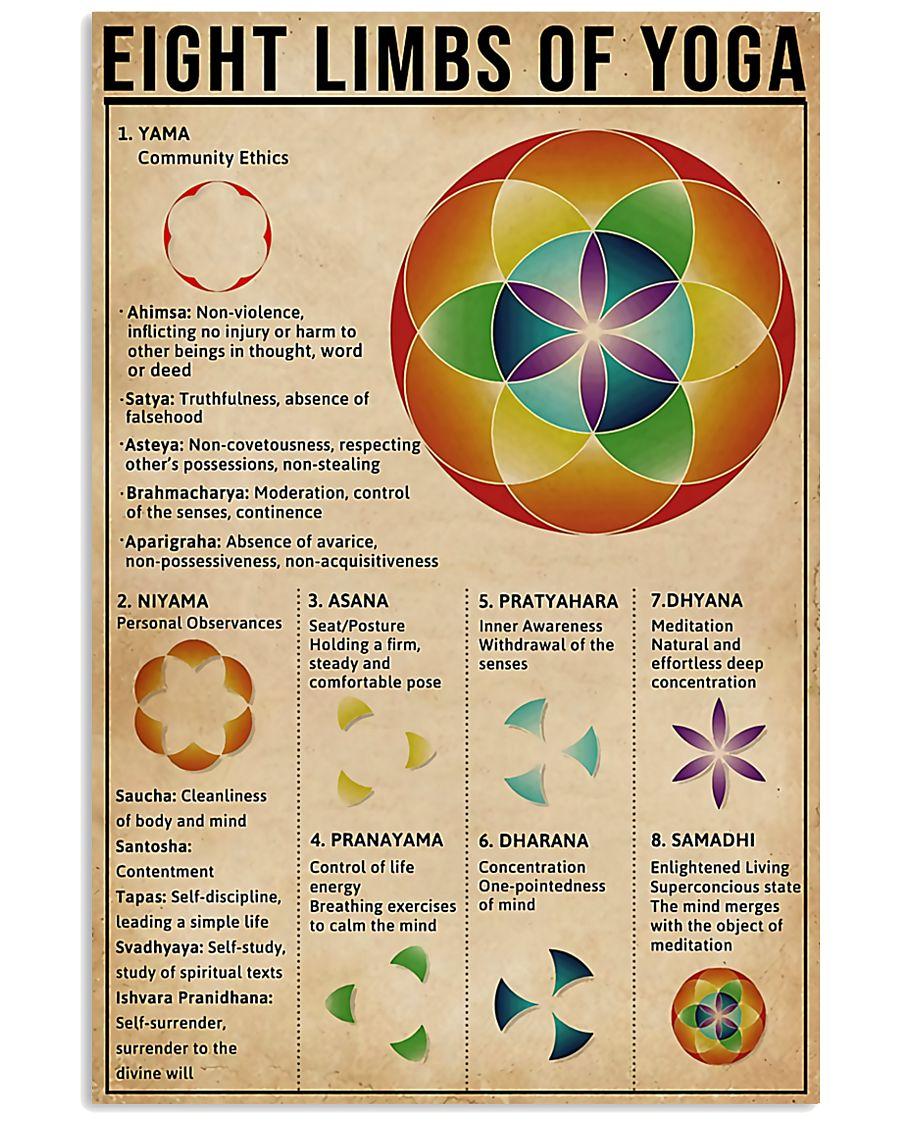 Eight limbs of yoga 11x17 Poster