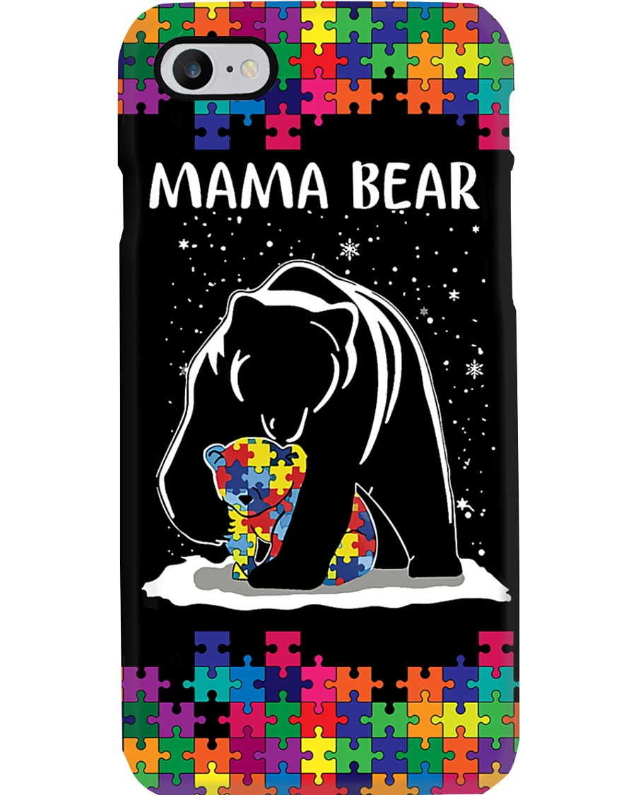 Autism Awareness Mama Bear Phone Case