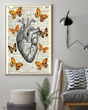 Butterflies Heart Anatomy Cardiologist 11x17 Poster lifestyle-poster-1