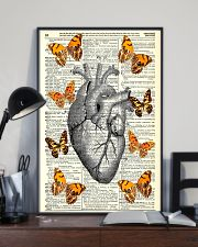 Butterflies Heart Anatomy Cardiologist 11x17 Poster lifestyle-poster-2