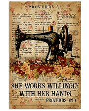 Sewing She Works Willingly With Her Hands 11x17 Poster front