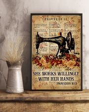 Sewing She Works Willingly With Her Hands 11x17 Poster lifestyle-poster-3