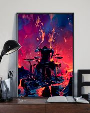 Drummer in fire 11x17 Poster lifestyle-poster-2