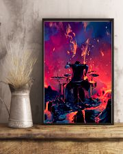 Drummer in fire 11x17 Poster lifestyle-poster-3