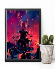 Drummer in fire 11x17 Poster lifestyle-poster-8