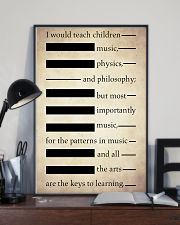I Would Teach Children Music Physics Philosophy 11x17 Poster lifestyle-poster-2