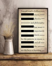 I Would Teach Children Music Physics Philosophy 11x17 Poster lifestyle-poster-3