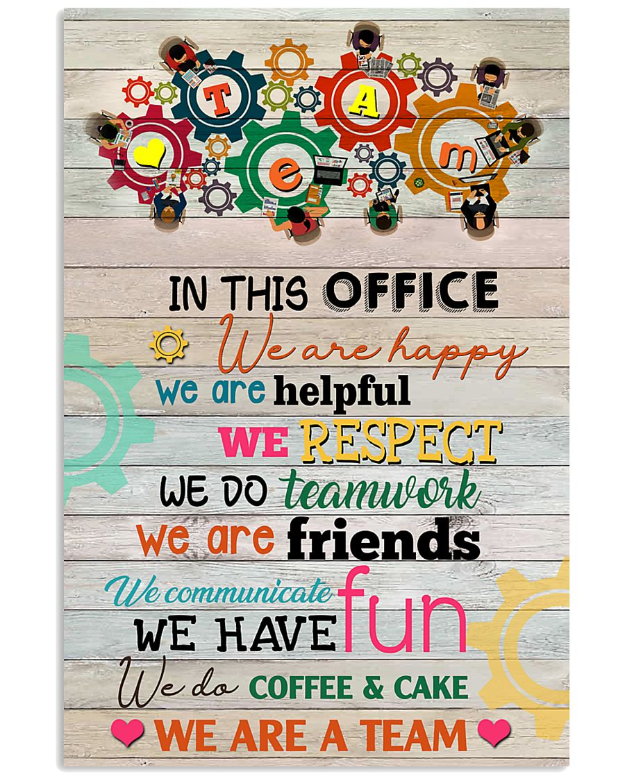 Social Worker In This Office We Are Happy 11x17 Poster