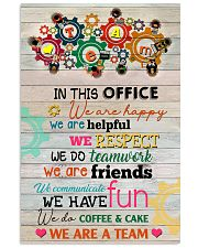 Social Worker In This Office We Are Happy 11x17 Poster front