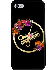 Floral Scissors Comb Hairdresser  Phone Case i-phone-7-case