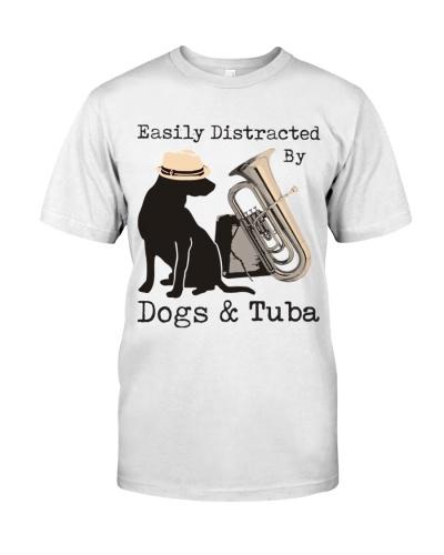 Tuba Easily distracted by dogs and tuba