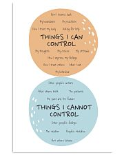 Social Worker Things I Can Control 11x17 Poster front
