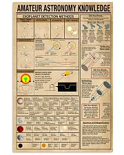 Scientist amateur astronomy knowledge 11x17 Poster front