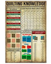 Quilting Sewing Knowledge 11x17 Poster front