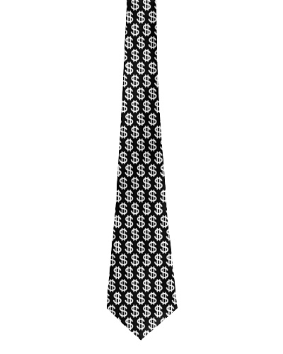 Accountant Dollar Tie