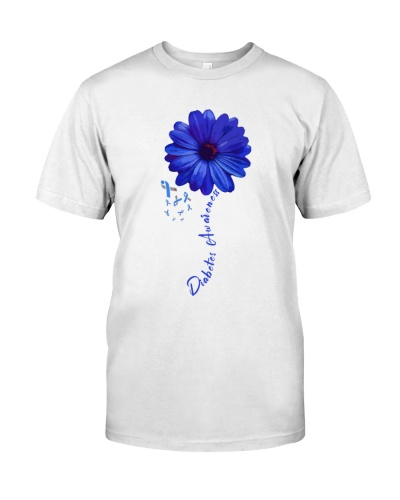 Diabetes Awareness Blue Flower