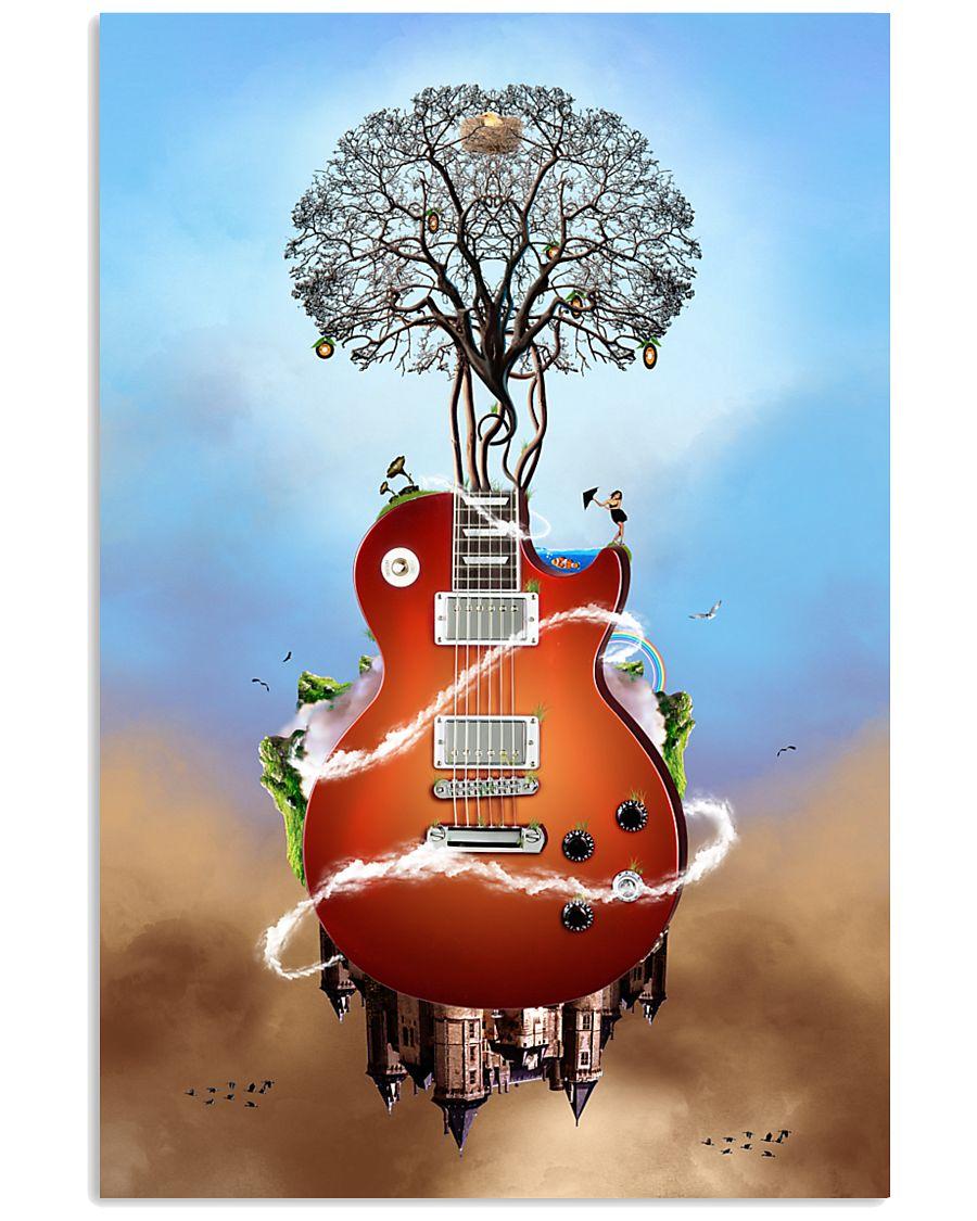 Guitar Tree In Sky  11x17 Poster