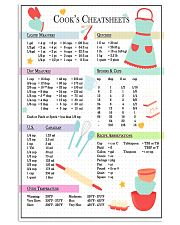 Baking Cook's Cheatsheets 11x17 Poster front