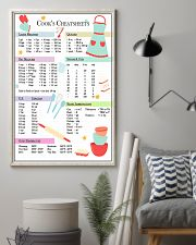 Baking Cook's Cheatsheets 11x17 Poster lifestyle-poster-1