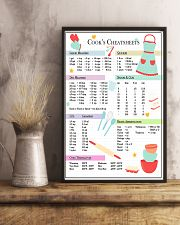 Baking Cook's Cheatsheets 11x17 Poster lifestyle-poster-3