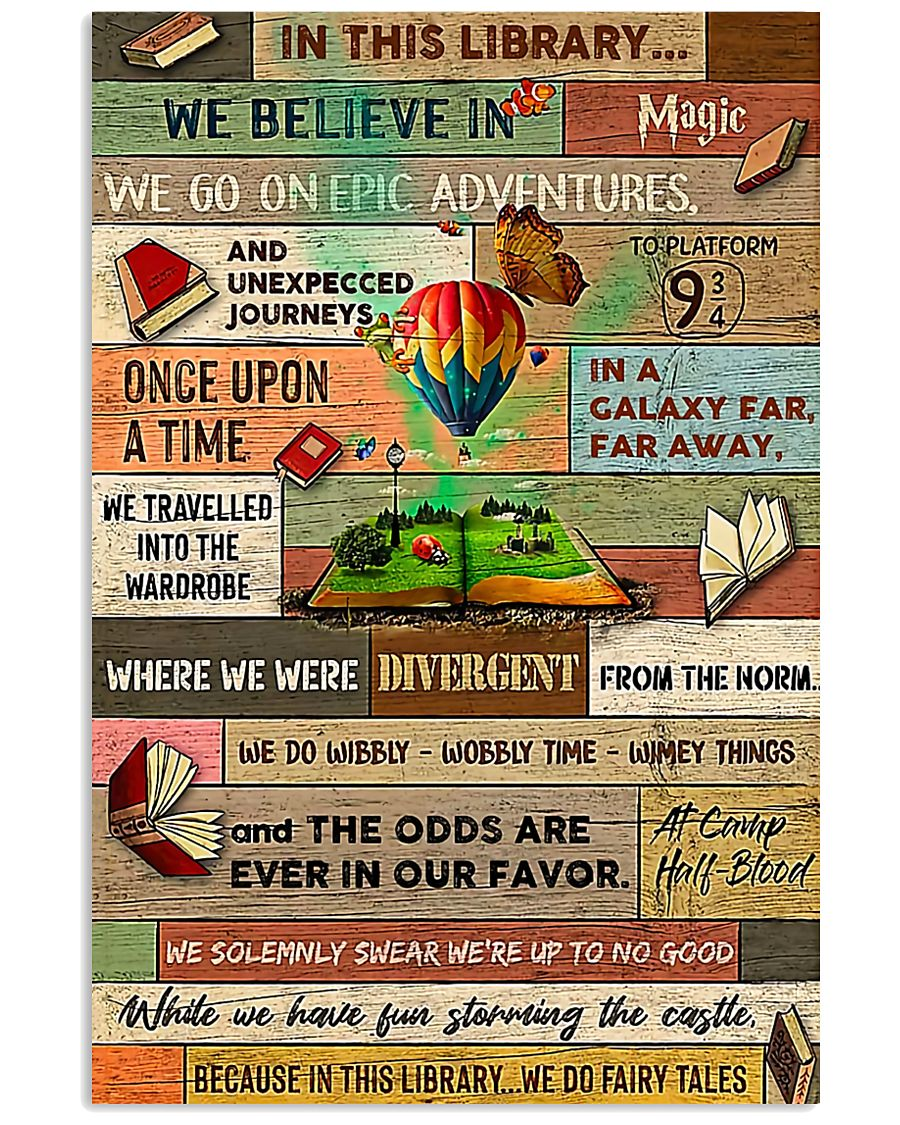 Librarian In This Library We Believe In Magic 24x36 Poster