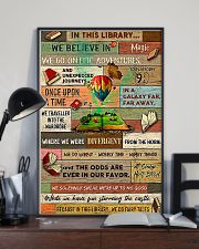 Librarian In This Library We Believe In Magic 24x36 Poster lifestyle-poster-2