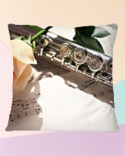 Romantic Rose Flute Image Square Pillowcase aos-pillow-square-front-lifestyle-25