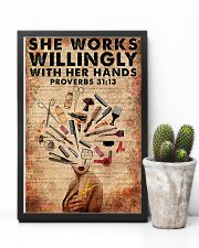 She Works Willingly Hairdresser 11x17 Poster lifestyle-poster-8