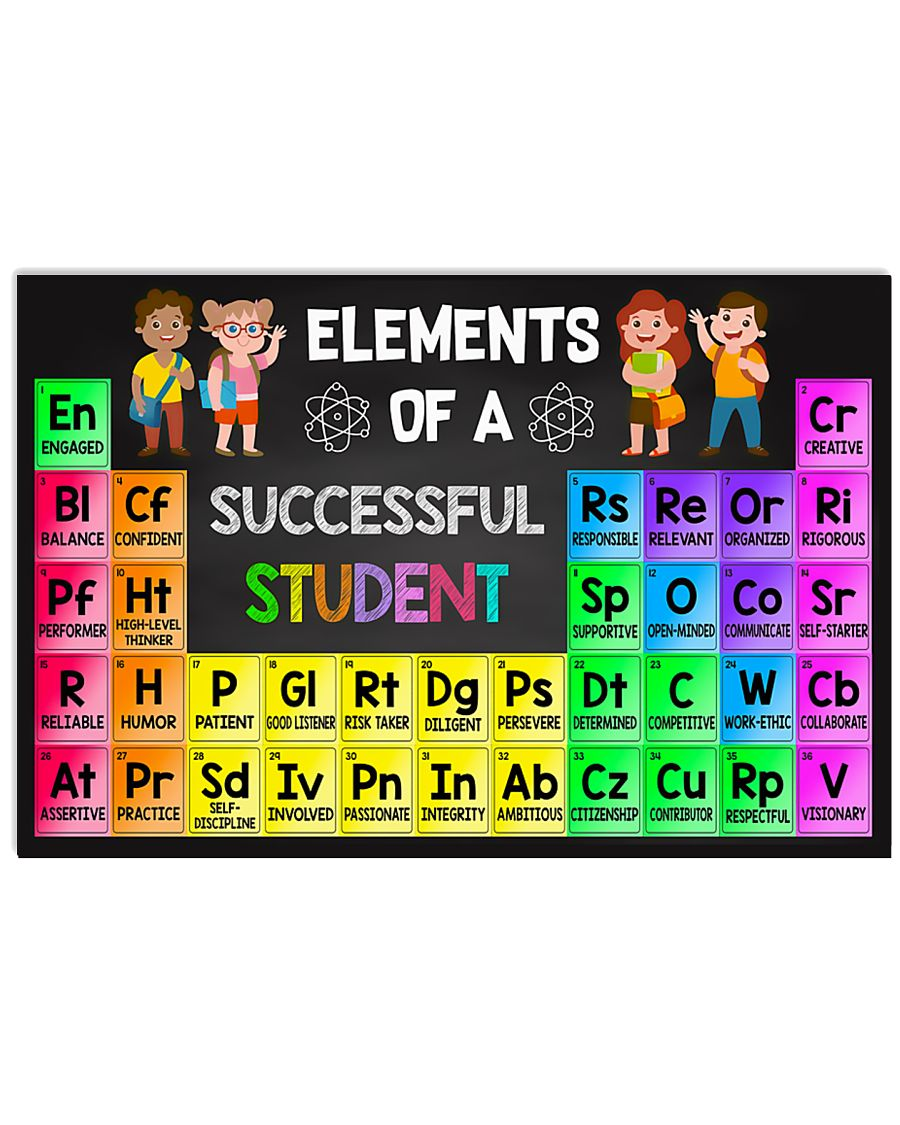 Teacher - Elements Of A Successful Student 17x11 Poster