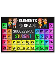 Teacher - Elements Of A Successful Student 17x11 Poster front