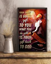 DJ Your Talent Is God's Gift To You 11x17 Poster lifestyle-poster-3