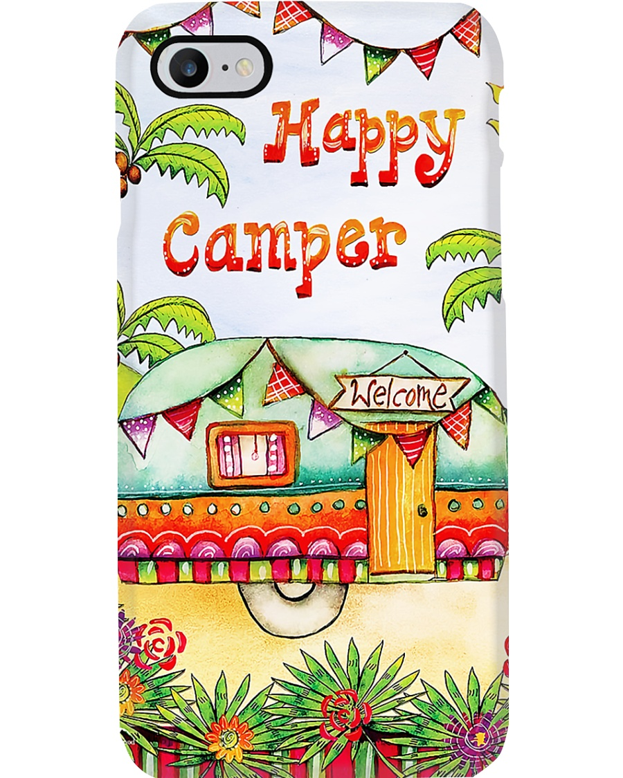 Tropical Camping Happy Camper Phone Case