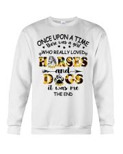 Horses And Dogs Crewneck Sweatshirt thumbnail