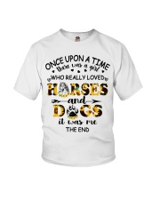 Horses And Dogs Youth T-Shirt front