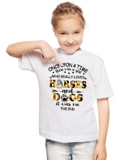 Horses And Dogs Youth T-Shirt lifestyle-youth-tshirt-front-2