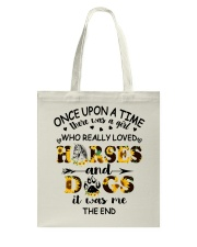Horses And Dogs Tote Bag thumbnail