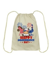 Happy Independence Day  Drawstring Bag thumbnail